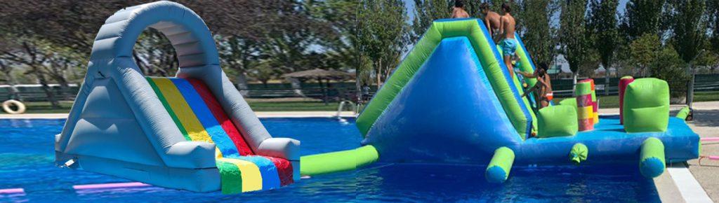slider pasarela y tobogan acuatico party baby