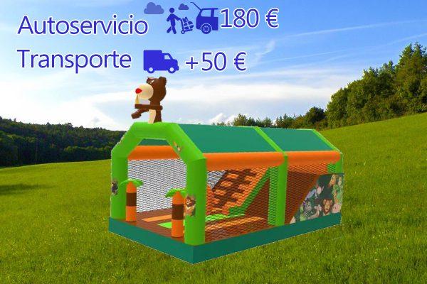 Castillo Hinchable Alquiler Jungla precio