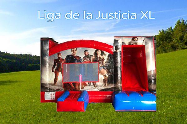 Castillo Hinchable Alquiler La Liga de la Justicia Portada