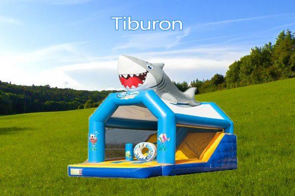 Castillo Hinchable Alquiler Tiburon Portada
