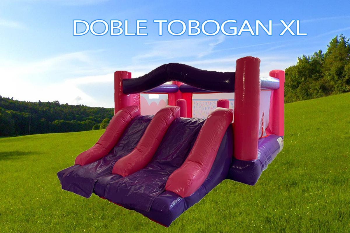 Castillos Hinchables Alquiler Doble Tobogan XL 1