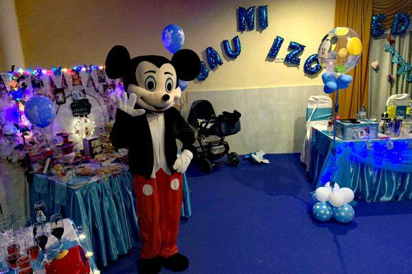 Muñeco Cabezudo Mickey bautizo