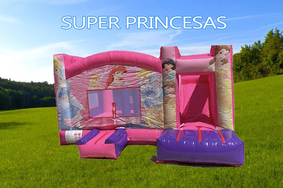 castillo hinchable alquiler princesas XL
