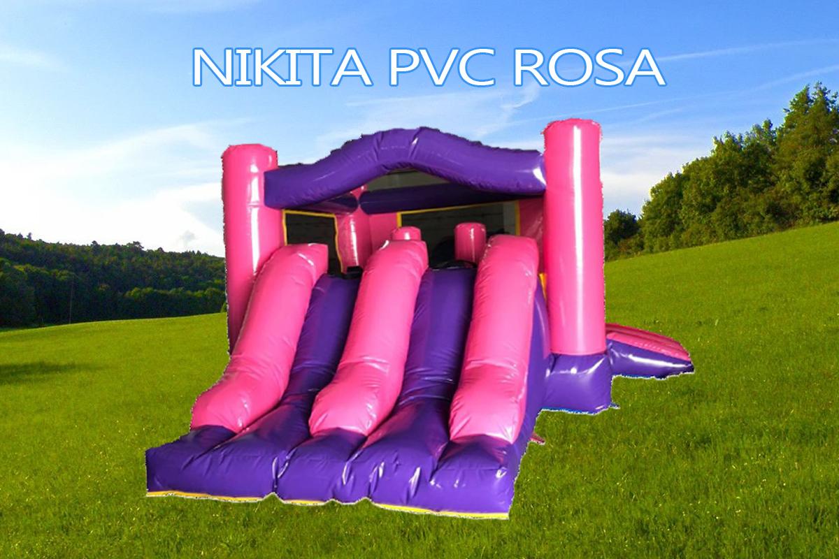 Castillo Hinchable rosa Nikita PRo pvc