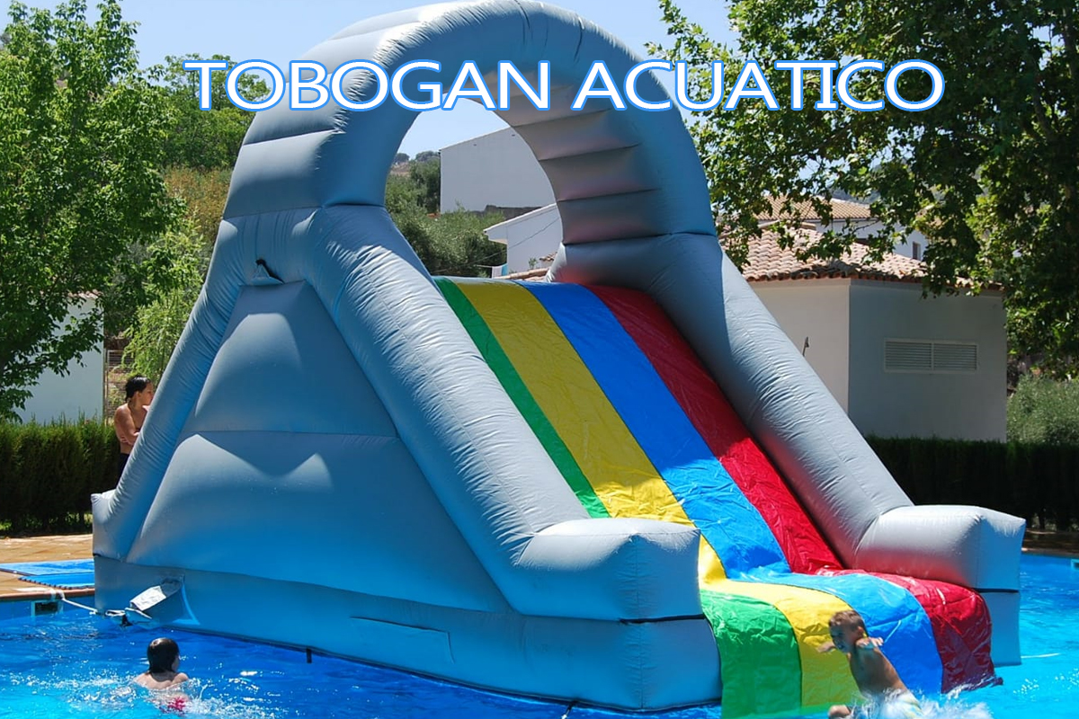 tobogan hinchable acuatico